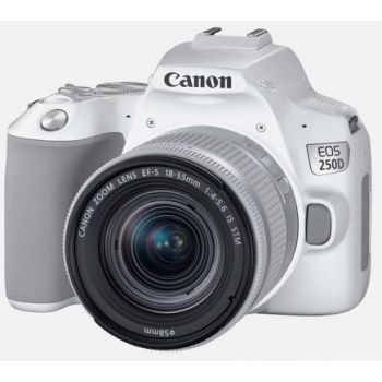 Canon EOS 250D 18-55 IS STM kit balts
